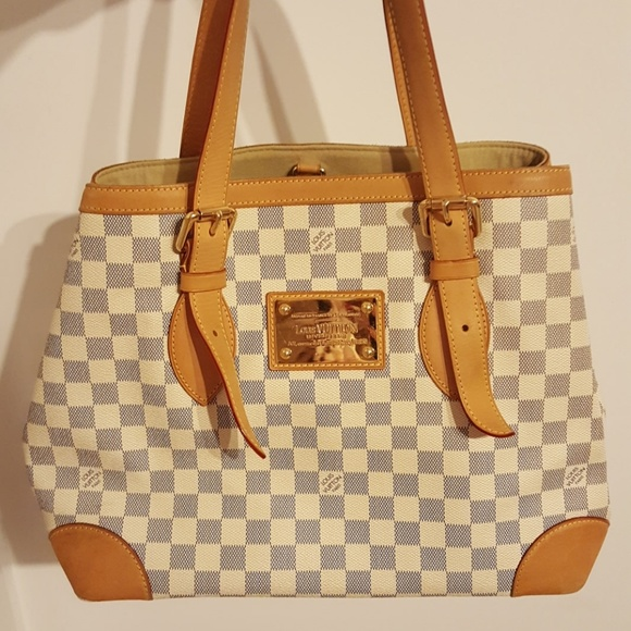 9b2b1b181669 Louis Vuitton Handbags - Louis Vuitton Hampstead Damier Azur Canvas MM